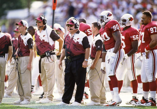 Cardinals coach Buddy Ryan was fired after the 1995 season after his team posted a record of 12-20 over two seasons.