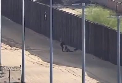 The video shows two Guatemalan teens getting injured after falling from the 18-foot border wall near Yuma, Arizona.