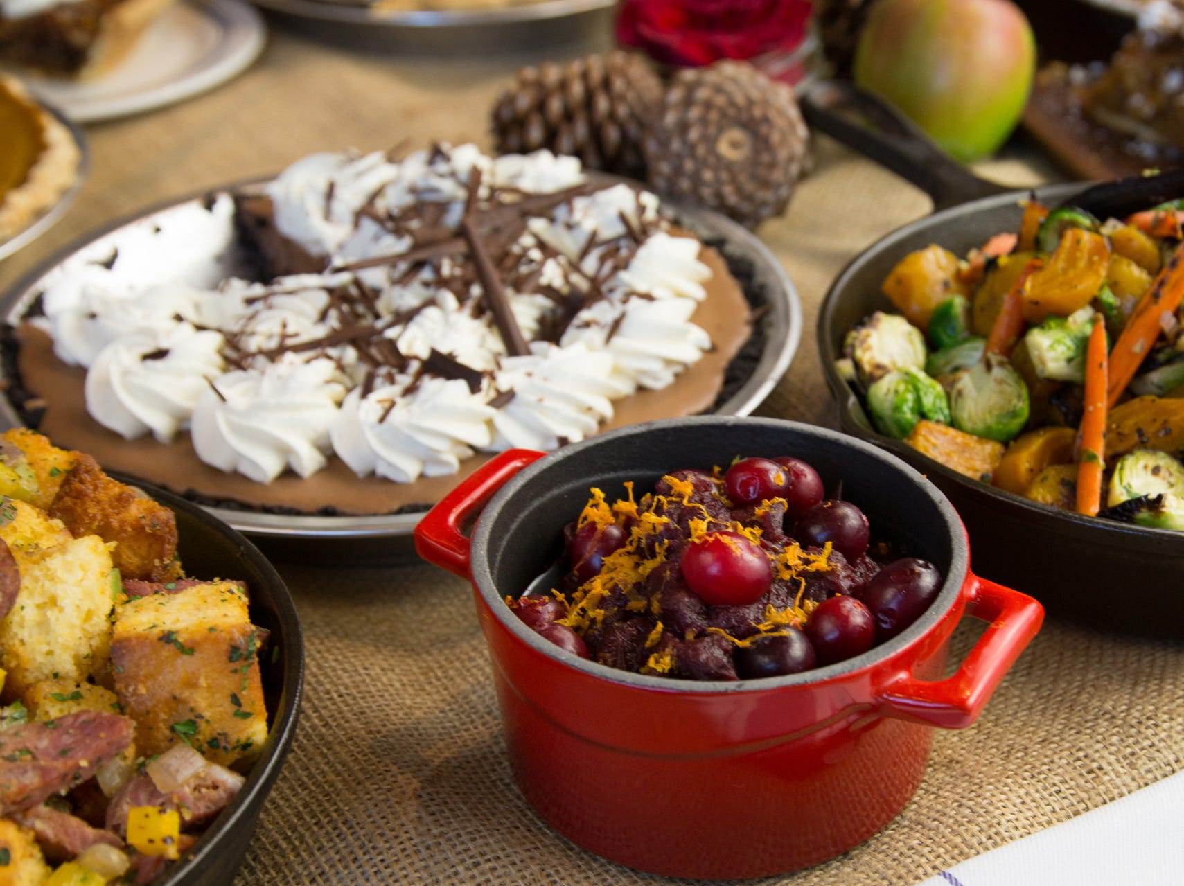 A variety of holiday dishes offered at restaurants at Four Seasons Resort Scottsdale at Troon North