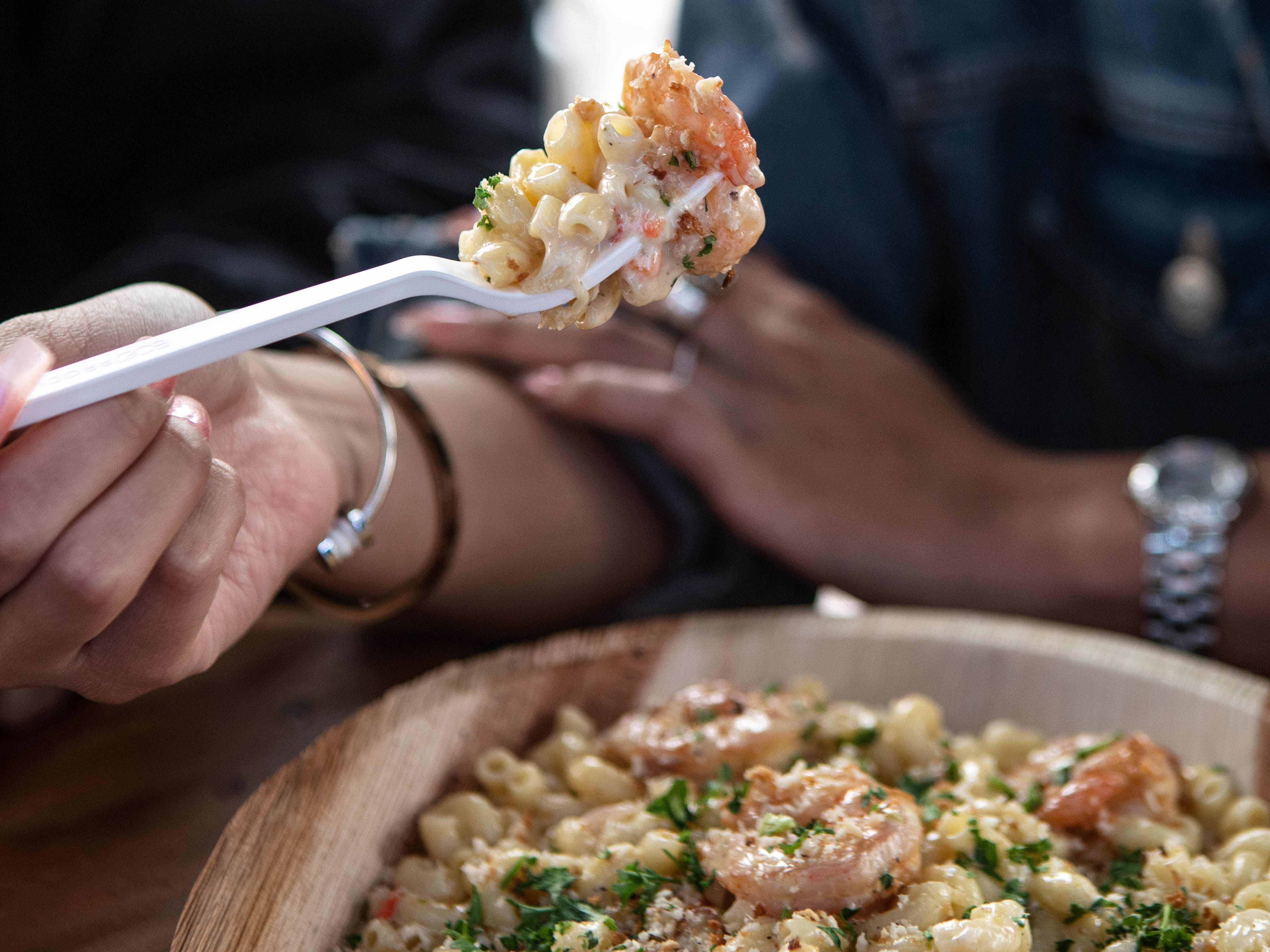 One of the most popular items so far at Tempe's new Varsity Tavern has been Blackened Shrimp Green Chile Mac n' Cheese.