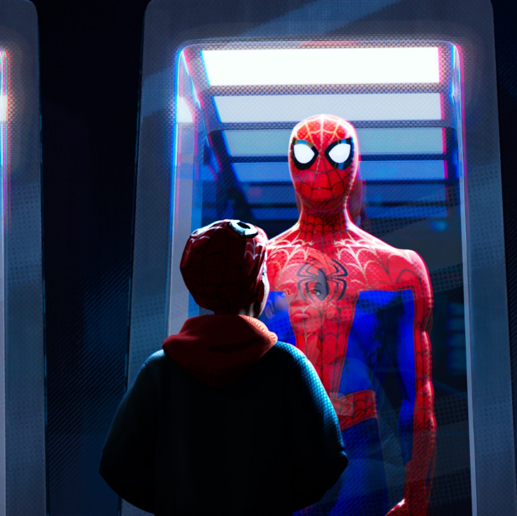 "Miles Morales learns there is more than one Spider-Man, and -Woman, in ""Spider-Man: Into the Spider-Verse."""