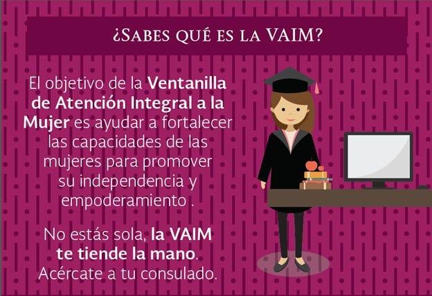 El objetivo de la VAIM es promover los servicios consulares a disposición de las mujeres mexicanas,