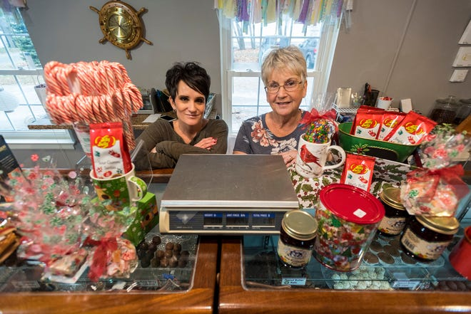 Mary Vargo, right, and her daughter Darci Vargo-McGuire, co-owners of The Chocolate Harbor, pictured Tuesday, Dec. 11, 2018 inside the store in St. Clair. The business, which they have owned for 25 years, sees its busiest time in December.