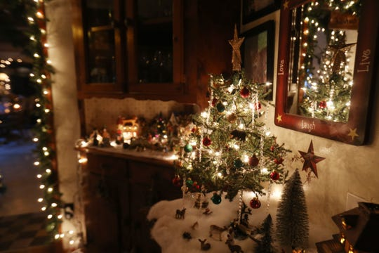 Christmas decor in the kitchen at the home of Lori and Wayne Theiss in Beacon on December 4, 2018. The Theisses have over 26 Christmas Trees on display at their home.