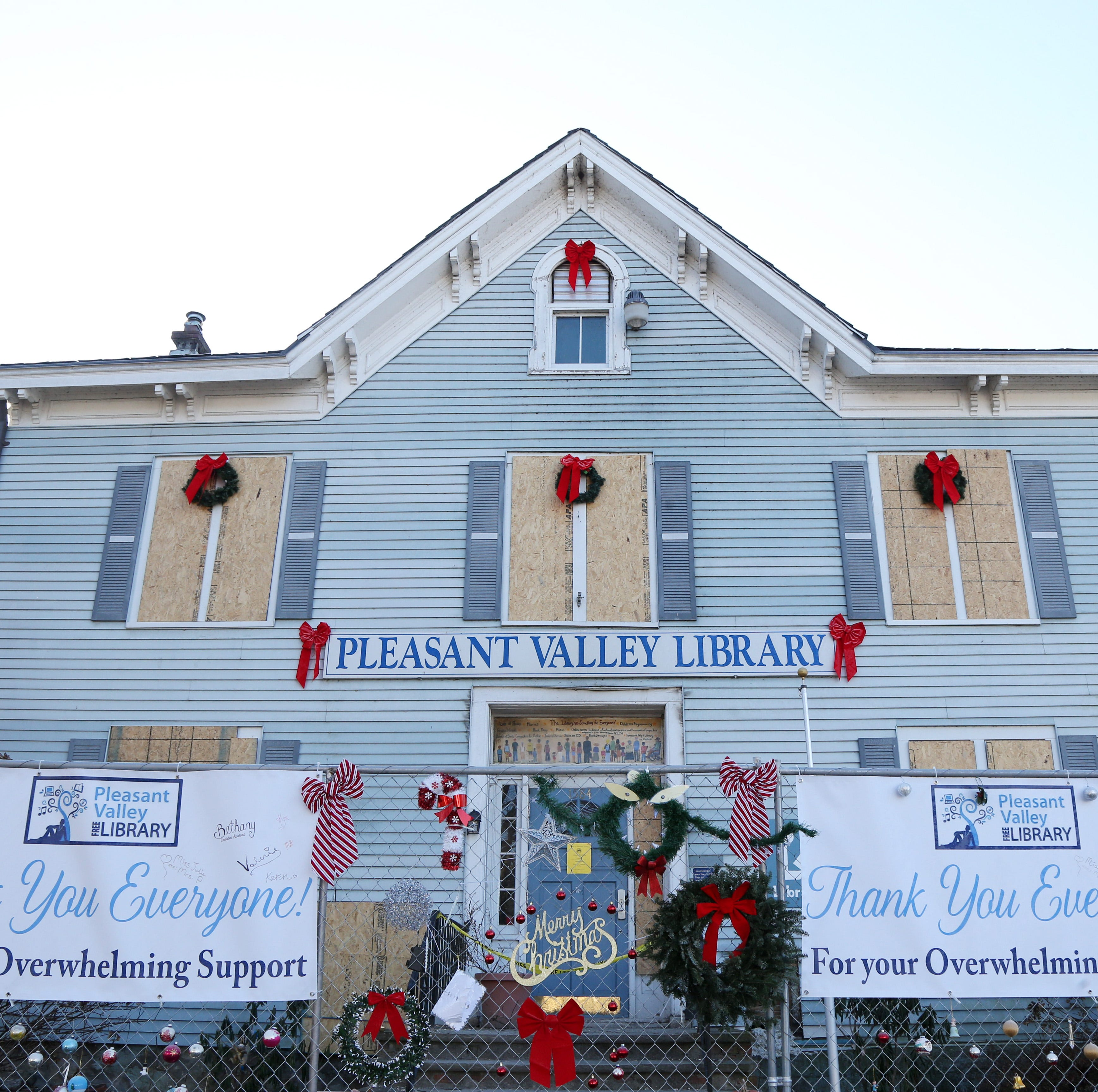 'Rise like a phoenix': Pleasant Valley library lifted by community after fire