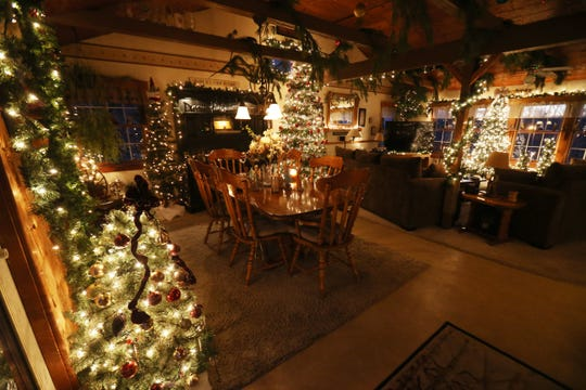 The Christmas decorations in the dining room of Wayne and Lori Theisses home in Beacon on December 4, 2018.