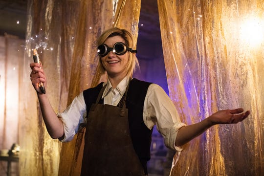 """The Doctor (Jodie Whittaker) on """"Doctor Who."""""""
