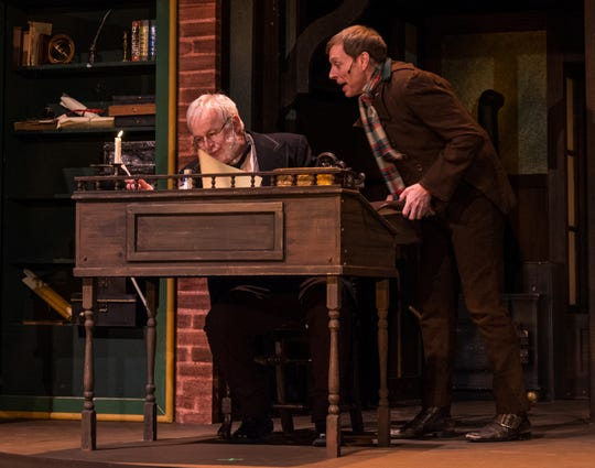 "Shane Partlow (right) plays Bob Cratchit in Totem Pole Playhouse's production of ""A Christmas Carol."" Partlow, who resides in Fayettevile part of the year, also recently appeared in a small role for the Golden Globe nominated film, ""Green Book."""