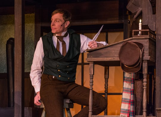 "Shane Partlow plays Bob Cratchit in Totem Pole Playhouse's production of ""A Christmas Carol."" Partlow, who resides in Fayettevile part of the year, also recently appeared in a small role for the Golden Globe nominated film, ""Green Book."""