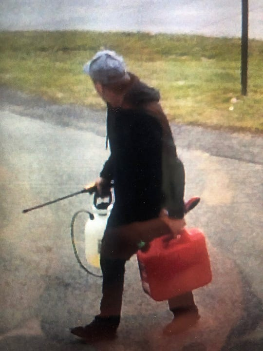 Newberry Township Police are searching for this man, who they say lit a woman's home on fire on Monday, Dec. 10. Photo courtesy of Newberry Township Police.