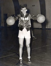 Art Lentz, pictured here during his time playing for the York Pros of the Eastern Professional Basketball League, turned down a contract offer from the NBA's Baltimore Bullets in the 1950s.