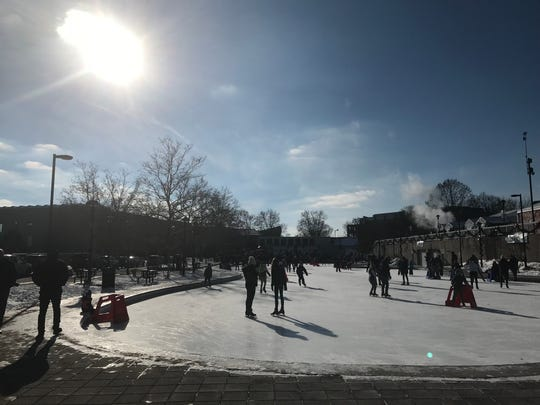 Ice skating free during Roc Holiday Village hours downtown at MLK Park