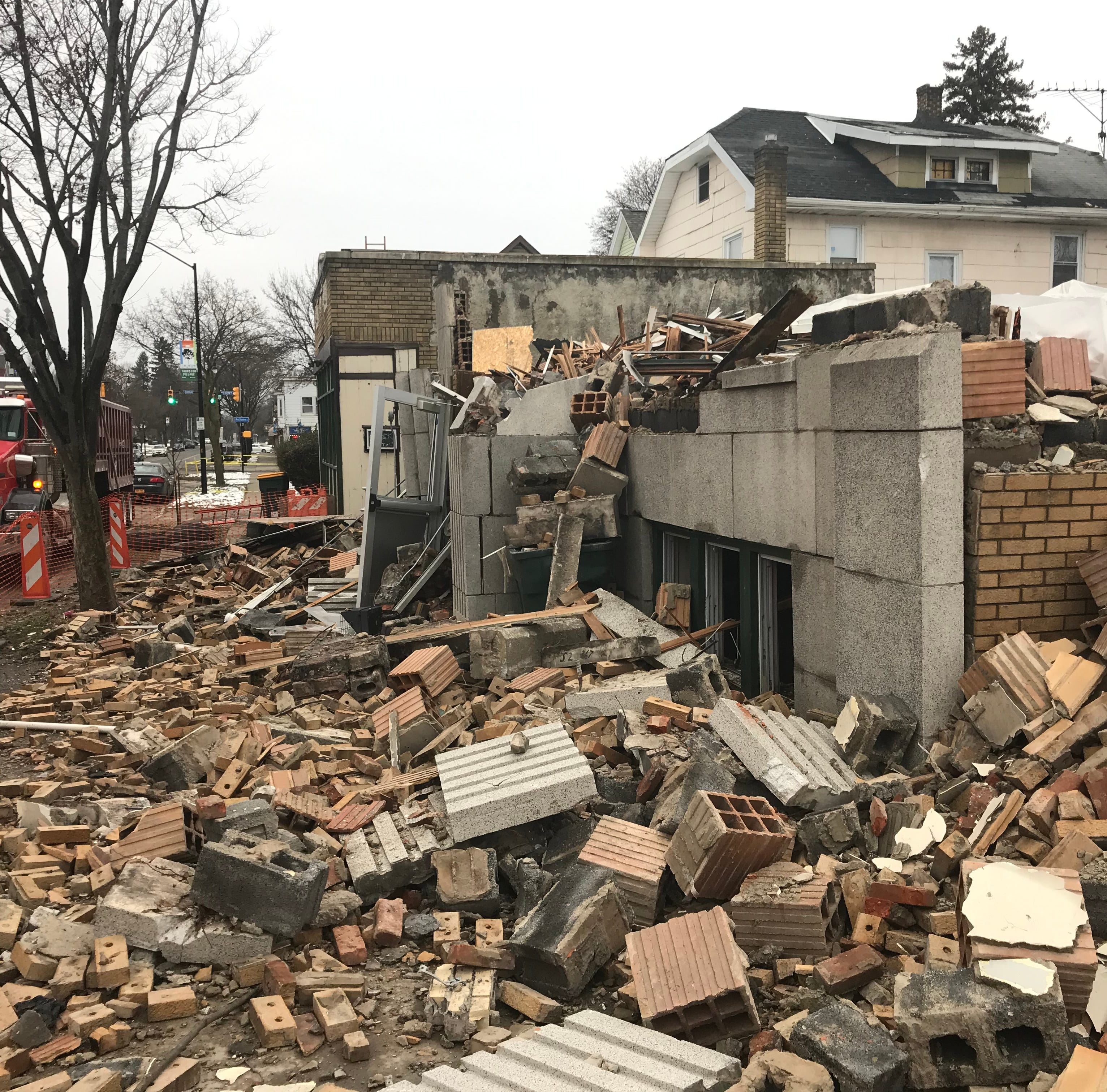 Thurston Road apartment building demolished as investigators look for cause of fire