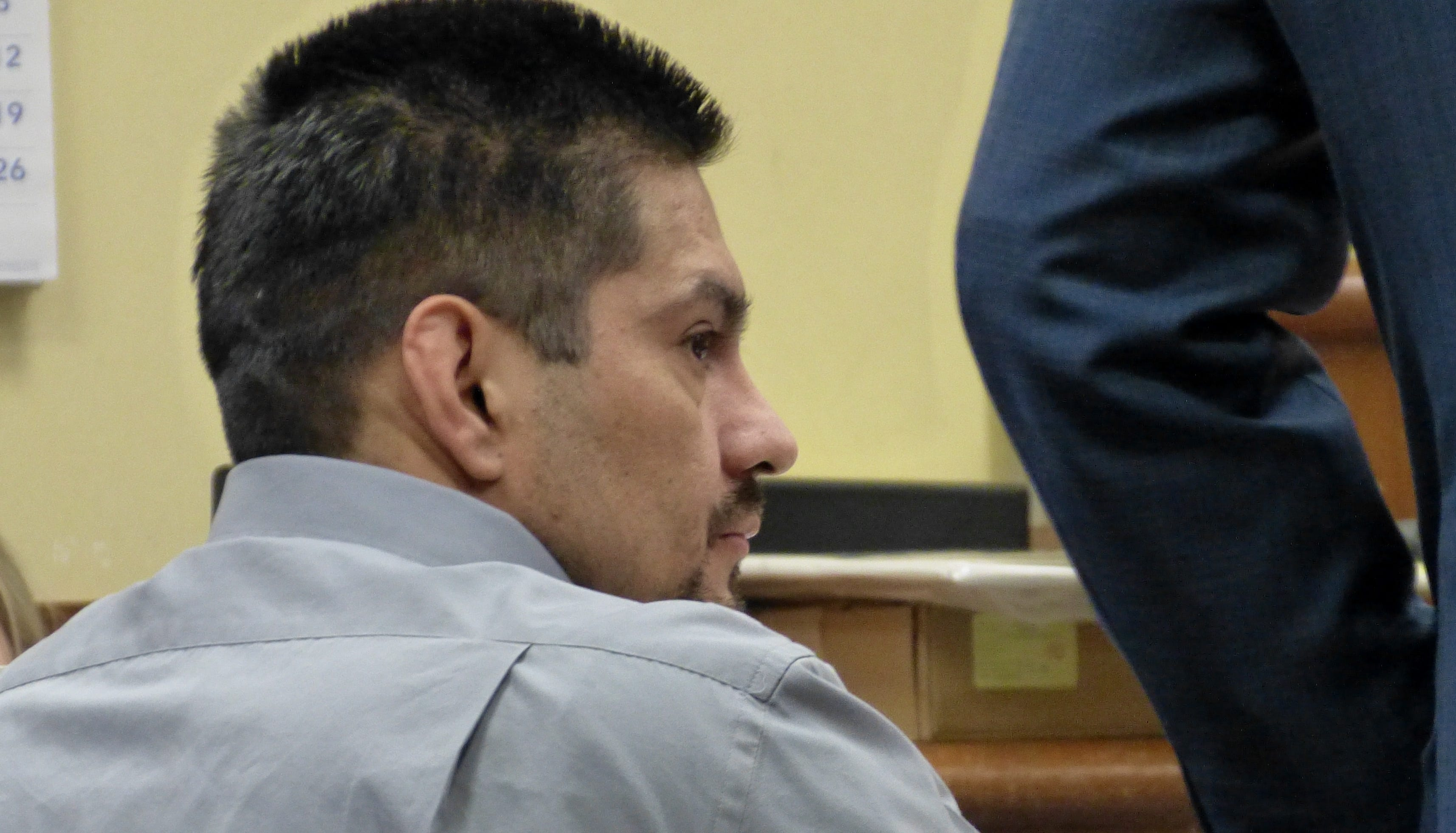 Juan Manuel Venegas sits in a Shasta County courtroom Tuesday during his murder retrial.