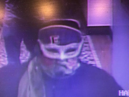 Those who might know the identity of this robbery suspect are asked to call Anderson police detectives.