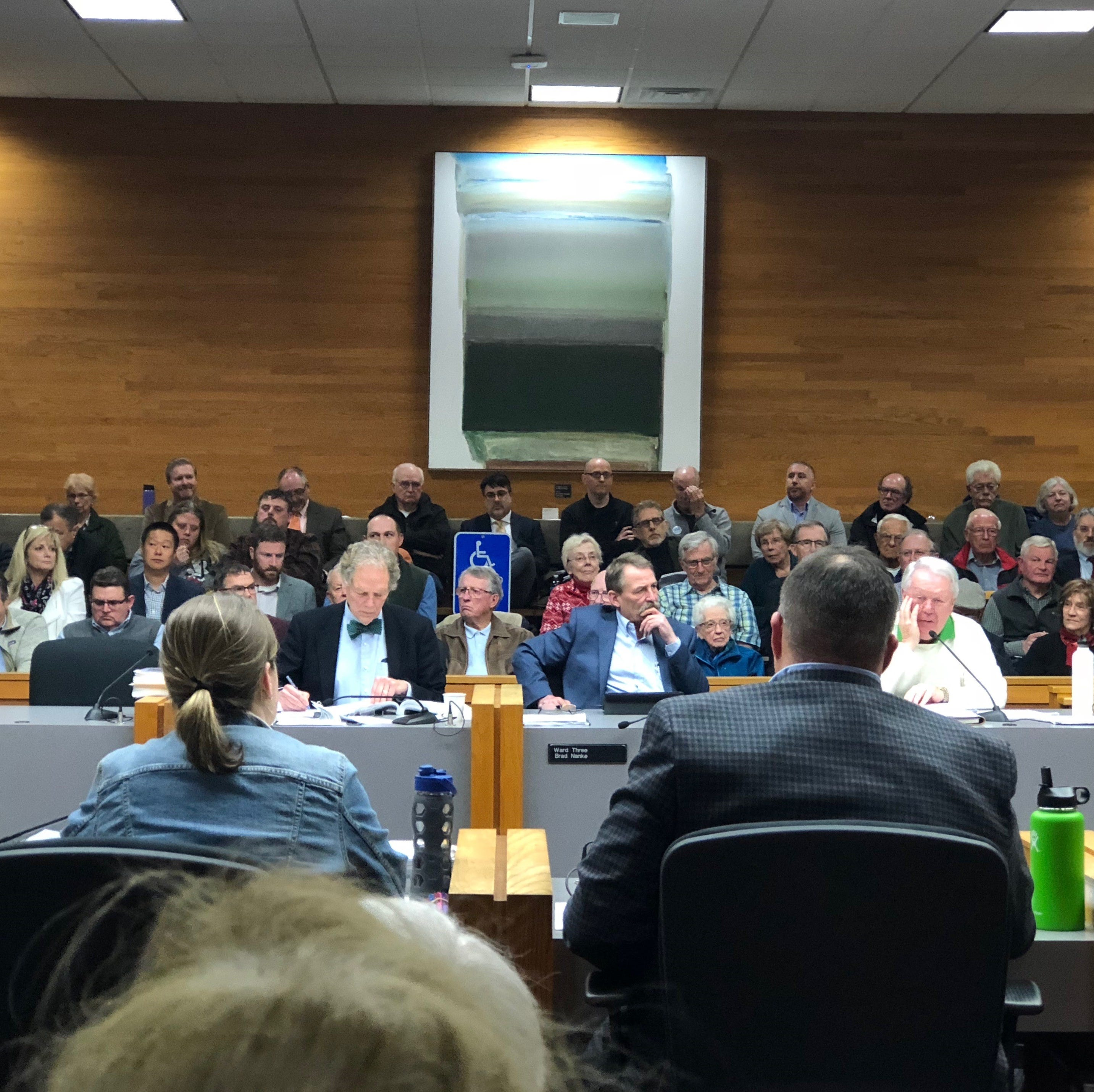 Members of the public fill Salem council chambers on Monday, Dec. 10, 2018. The Salem City Council heard testimony on plans to develop a 24-acre shopping center in Southeast Salem.