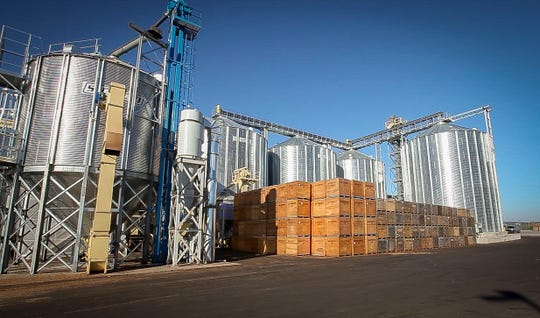 The new Hazelnut Growers of Oregon state-of-the-art processing plant in Donald, Oregon.