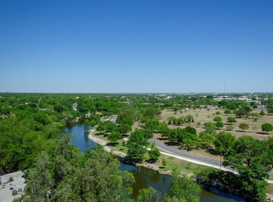 This view comes from 800 -7W  W Ave. D. This seventh floor condo unit is for sale at $170,00.