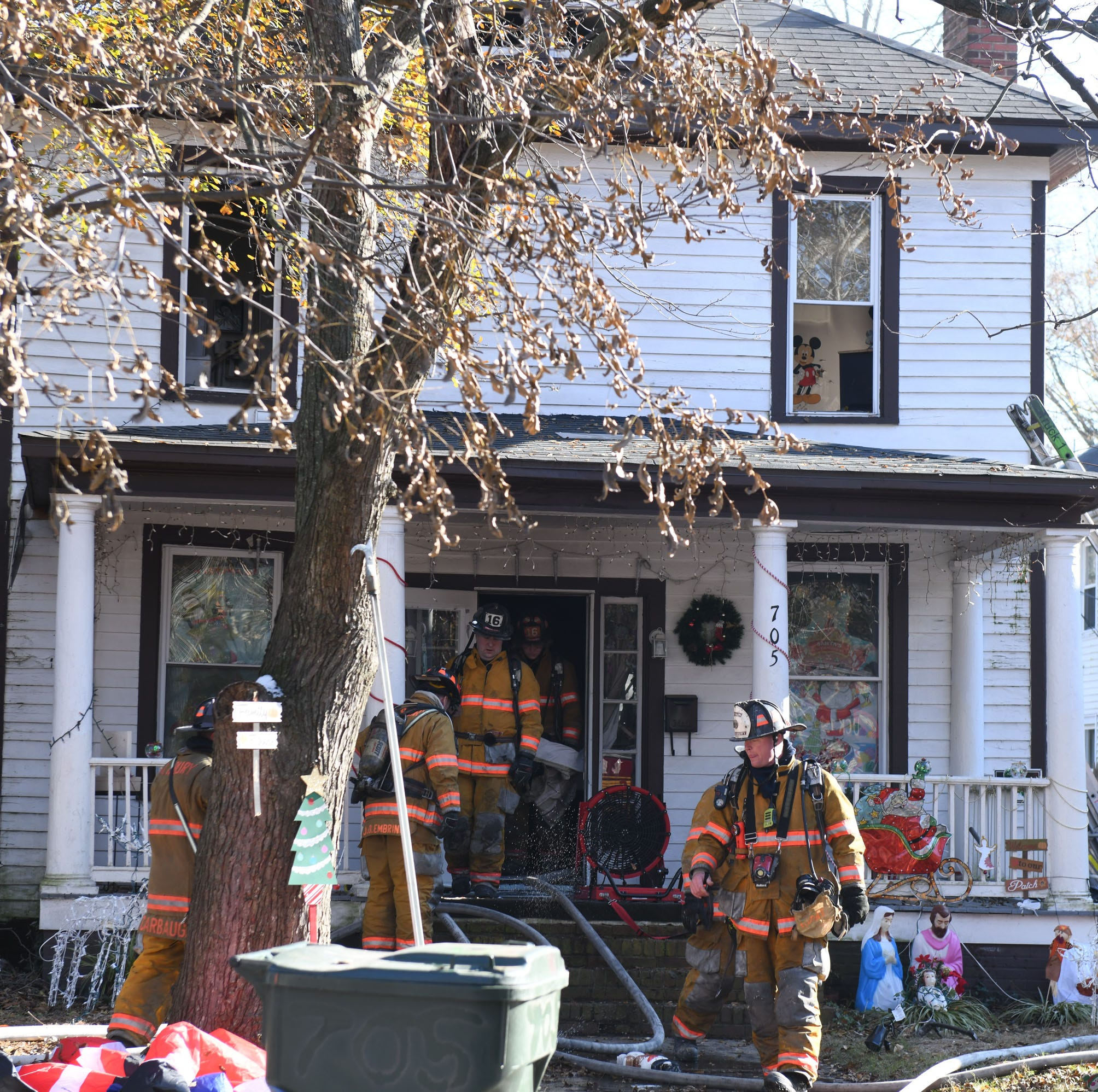 Unattended candle causes fire; grandmother, baby safe