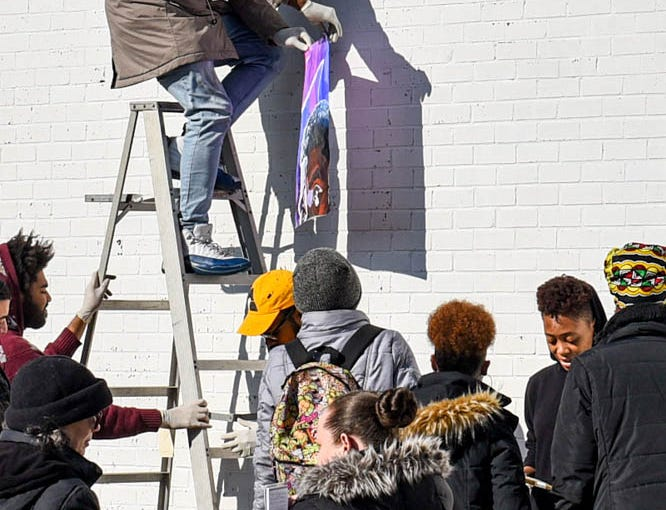 'Black Panther' graces a wall in downtown Princess Anne