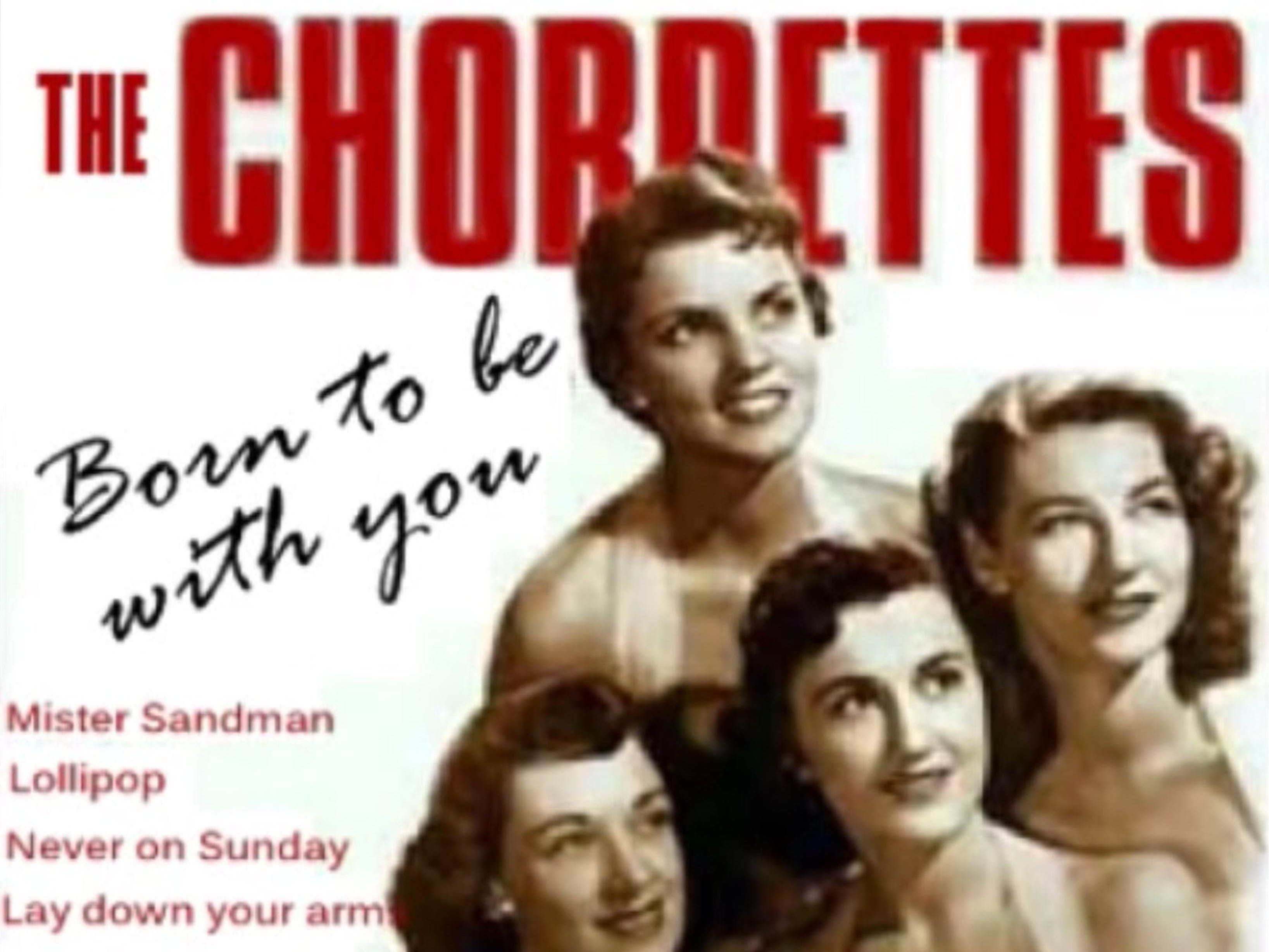 The Chrodettes on an album cover from a YouTube video recording of an album from the group.https://www.youtube.com/watch?v=A0kd-w7Xwd8