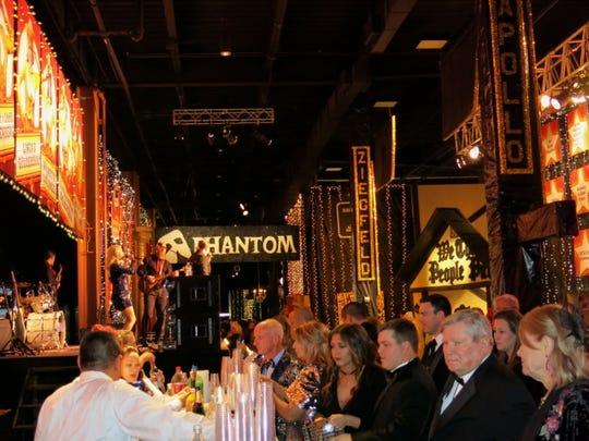 """Scene at Sky's """"Broadway""""-themed fundraiser Dec. 8 at Harrah's Louisiana Downs."""