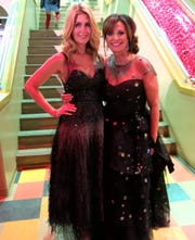 Sky Co-Chair Heidi Kallenberg and Chair Waynette Ballengee arrive at the SRAC fundraiser.
