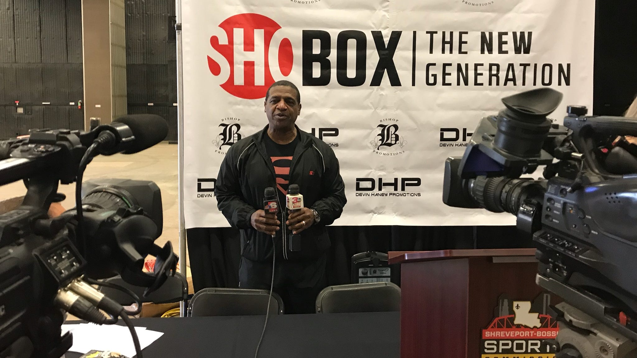 """Robert """"Super-Mann"""" Blount helped announced a major boxing event coming to Shreveport next month."""