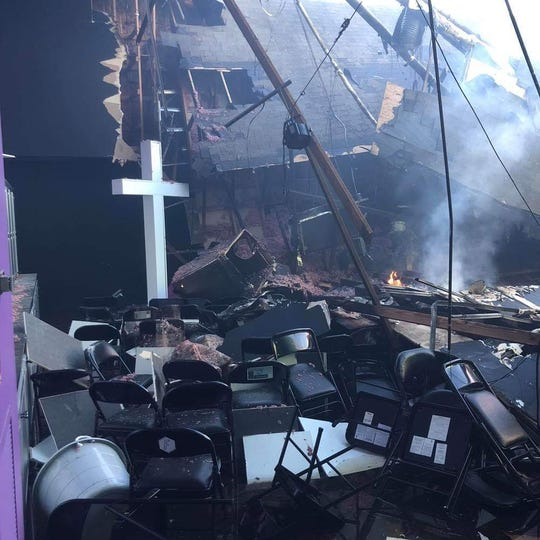 A fire that began early Monday damaged several buildings at FIrst Bossier church.