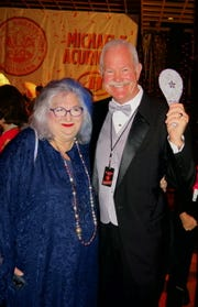 SRAC Chief Pam Atchison and $100 Sky Silver Paddle winner Darden Gladney. The Silver Paddle, a new addition to Sky, gave the holder a $5,000 spending spree on Silent Auction items.