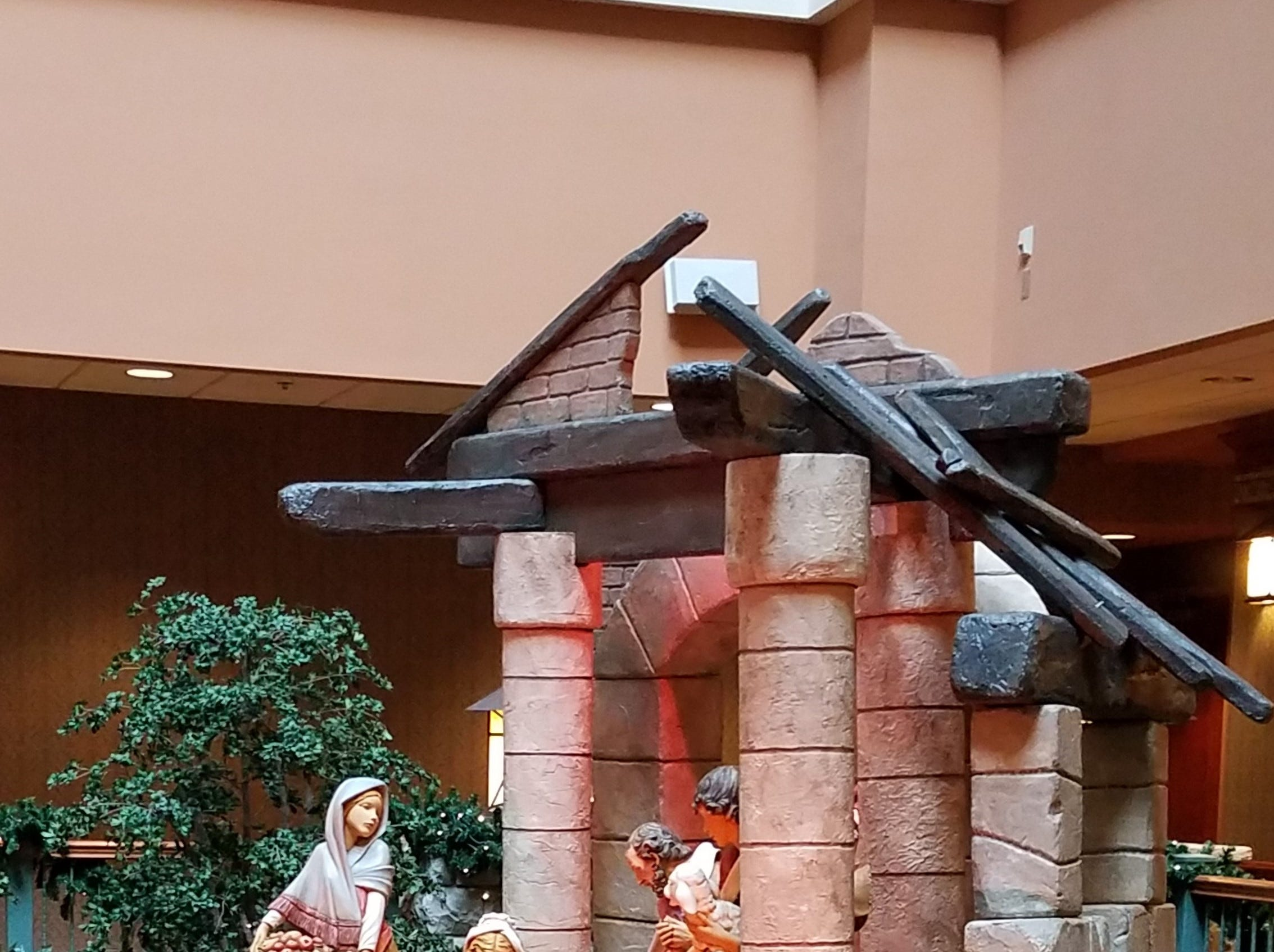 The Nativity scene created and signed by the House of Fontanini in Italy is another famous part of the display.