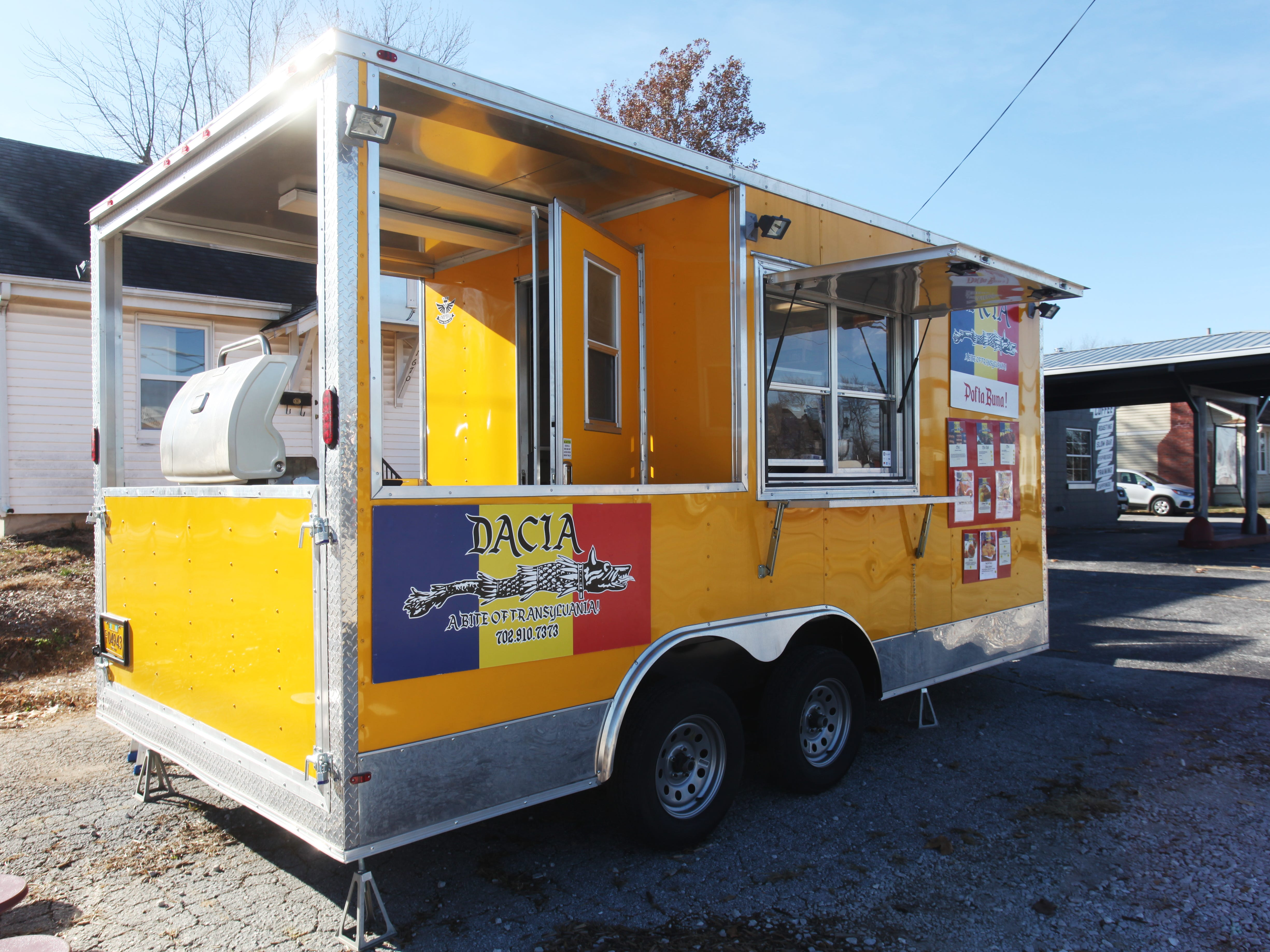 Dacia, a Romanian food truck, is based at 1666 E St. Louis Street in Springfield.