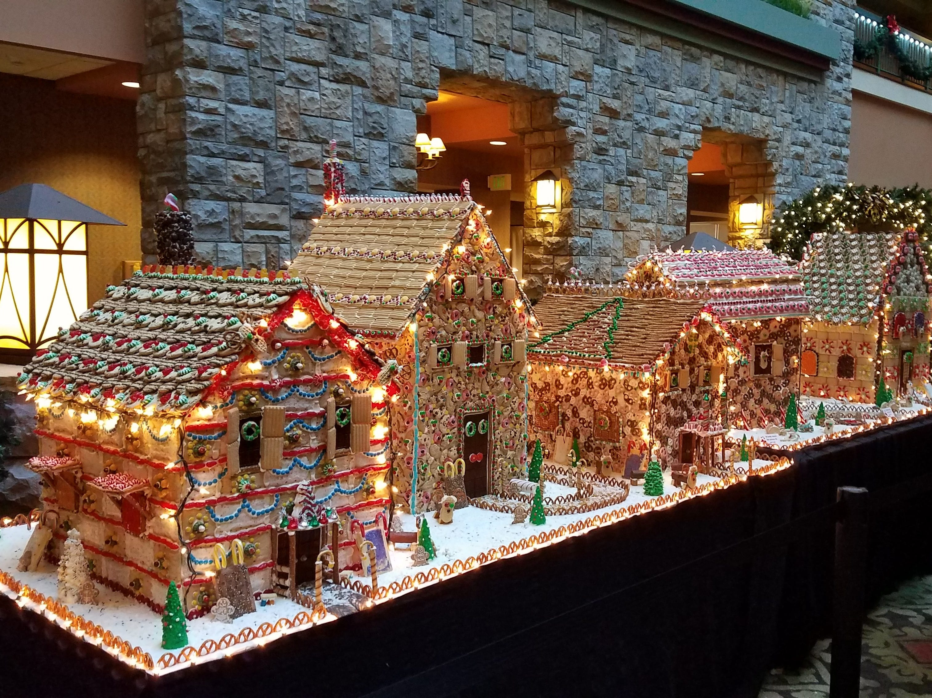 The gingerbread village has been part of Branson's Ozark Mountain Christmas for years.