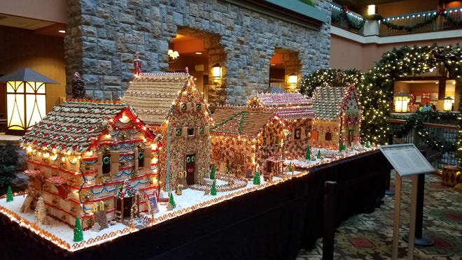 Come to Chateau by the Lake to see the elaborate gingerbread village.
