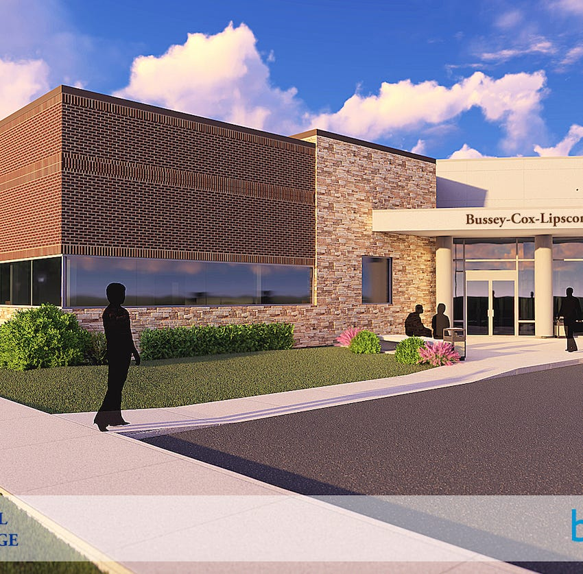 A rendering of Ozark Technical Community College's new Republic center. The project will break ground in January.