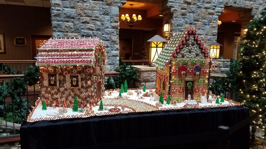 Some stay at the hotel, but many come just to tour the gingerbread land and take photos