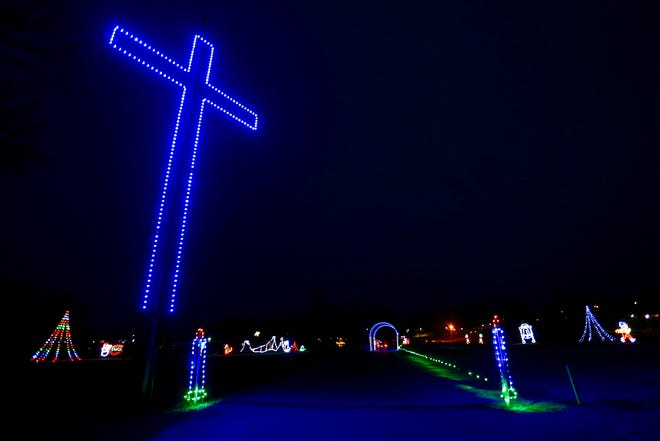 The city of Ozark said Dec. 28, 2018 that it would take down the horizontal arms of a cross in Finley River Park as part of a holiday lights display. The arms were to come down after the lights display ends on Dec. 30, and the city was continuing to evaluate its options regarding the cross.