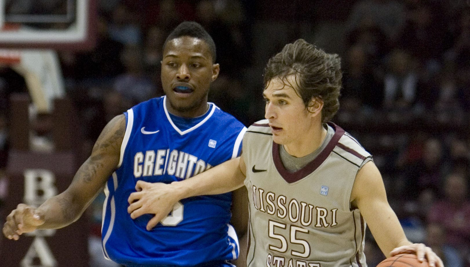 The Missouri State Bears take on the Creighton Bluejays at JQH Arena on Wednesday, Jan. 18, 2012.