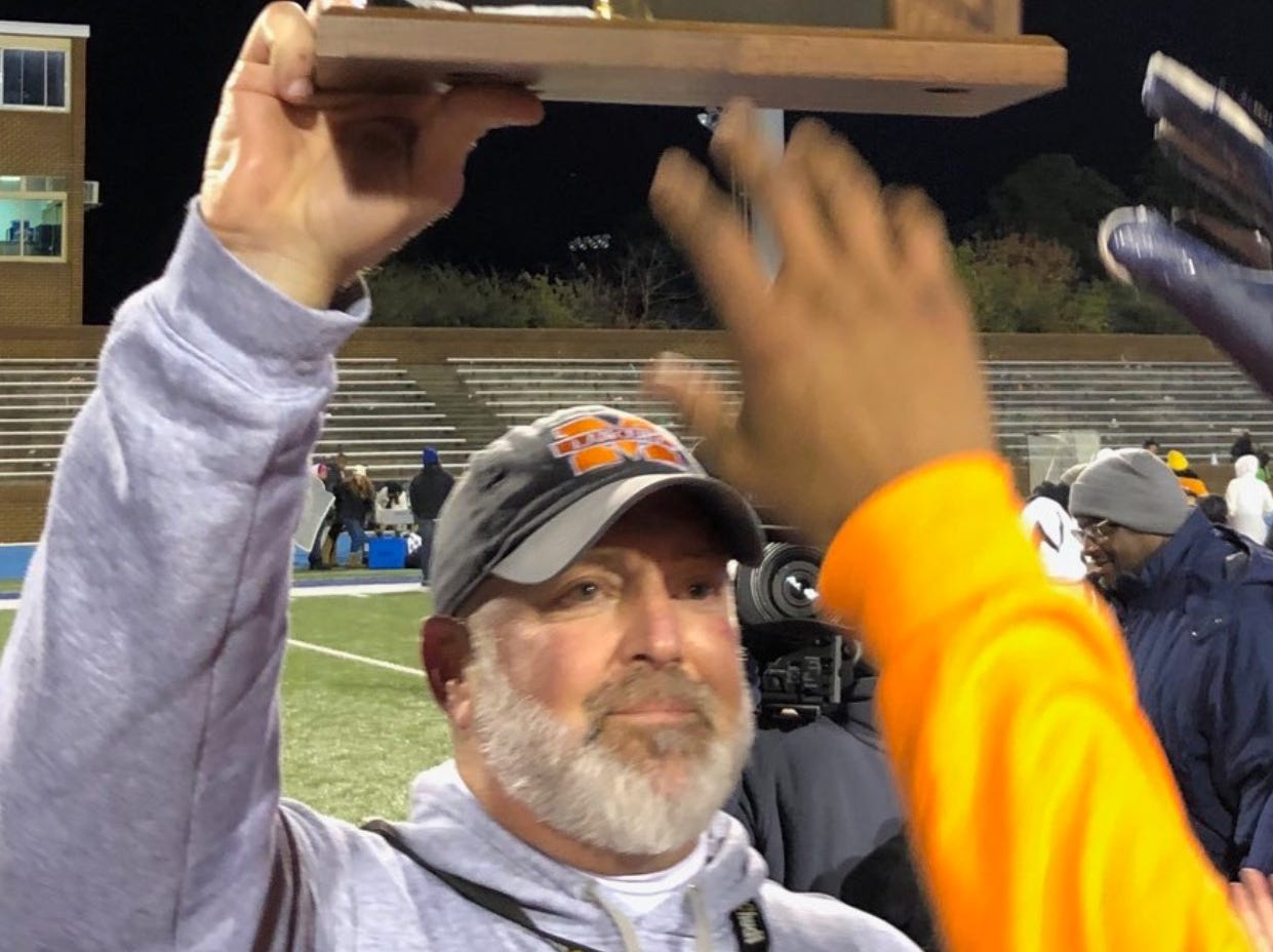 Tom Hall, a former Buffalo Gap assistant, led Manchester to a state title this year.