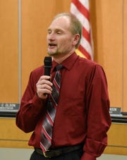 City Council member Steve Heinen speaks Monday, Dec. 10, during the Sauk Rapids council meeting. In January, Heinen gives up his seat to serve on the Benton County board.