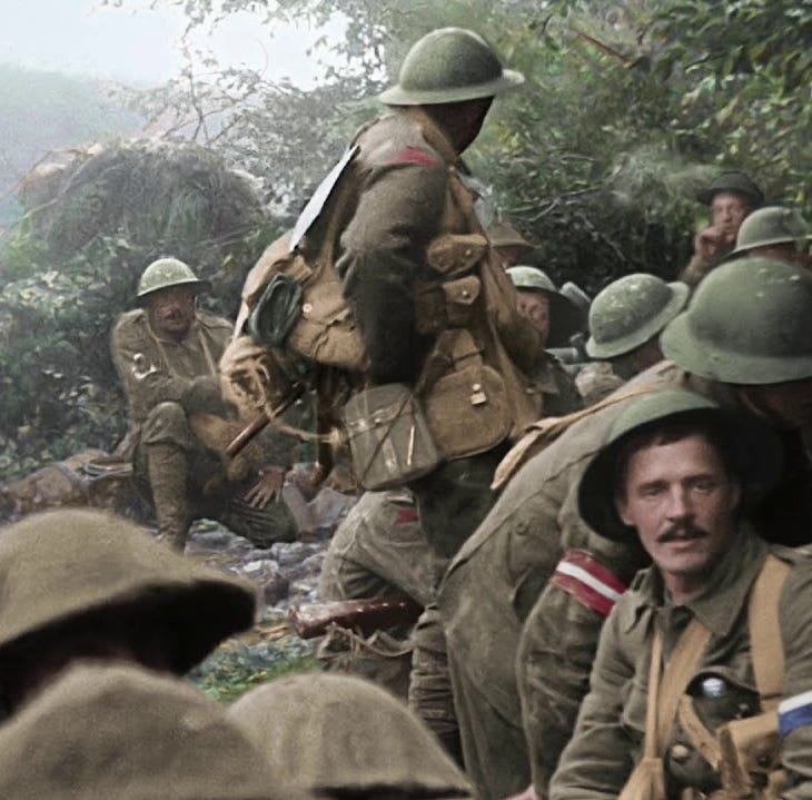 """Lord of the Rings"" director Peter Jackson went through endless hours of World War I footage to colorize and bring the 100-year-old film clips up to normal speed. What that means is that viewers will see the so-called Great War like never before in ""They Shall Not Grow Old."" The War to End All Wars stopped blazing 100 years ago this fall in France and called down long enough for WWII. Catch ""They Shall Not Grow Old"" is being shown at Monday at 4 and 7 p.m. at AMC 20 and Movies at Governor's Square. The doc runs two hours and is intended for mature audiences because it's rated R."