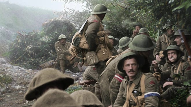 """Lord of the Rings"" director Peter Jackson went through endless hours of World War I footage to colorize and bring the 100-year-old film clips up to normal speed."