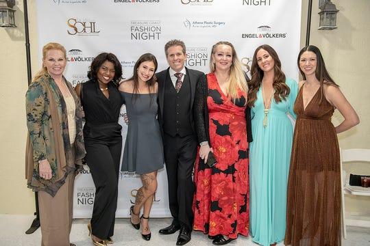 Athena Plastic Surgery, a sponsor of Treasure Coast Fashion Night, was represented by Cheryl Odell, left, Tabitha Adea, Monique Sanchez, Dr. Avron Lipschitz, Melissa Garcia, Ann Marie Adelhardt and Kasie Brennan.