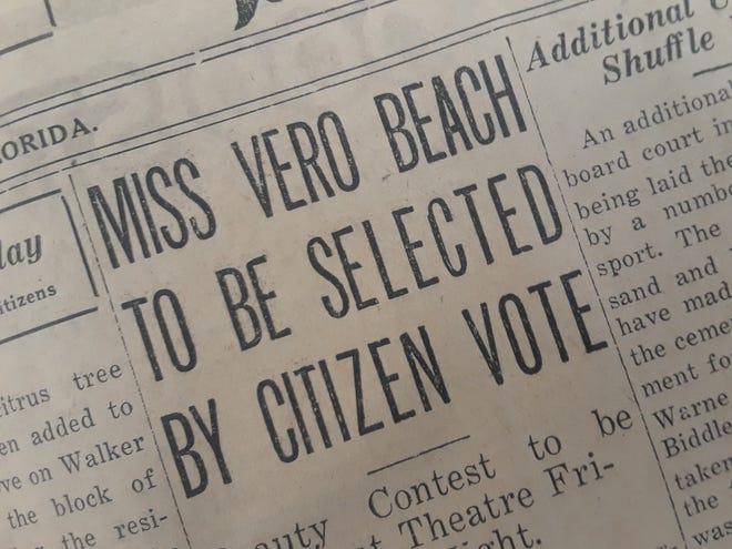 Voting for Miss Vero Beach.