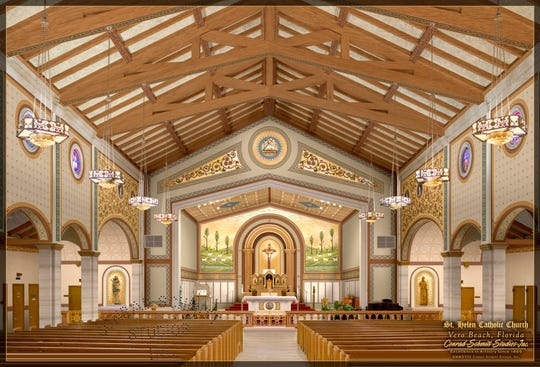 The planned renovations to the church's sanctuary, in celebration of its centennial.