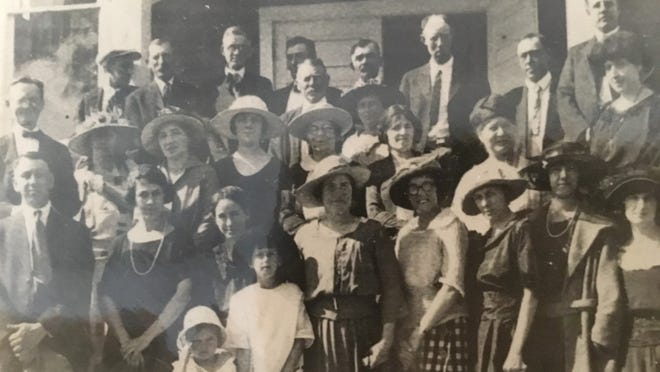 Some of the first parishioners of St. Helen Catholic Church.