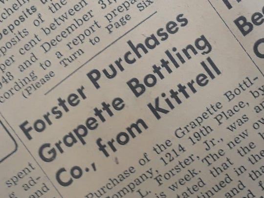 Bottling company sold to William L. Forster Jr.