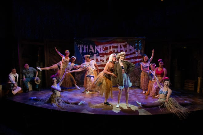 """The cast of """"South Pacific"""" sings """"Honey Bun"""" in Rubicon Theatre Company's production, which runs through Dec. 23."""