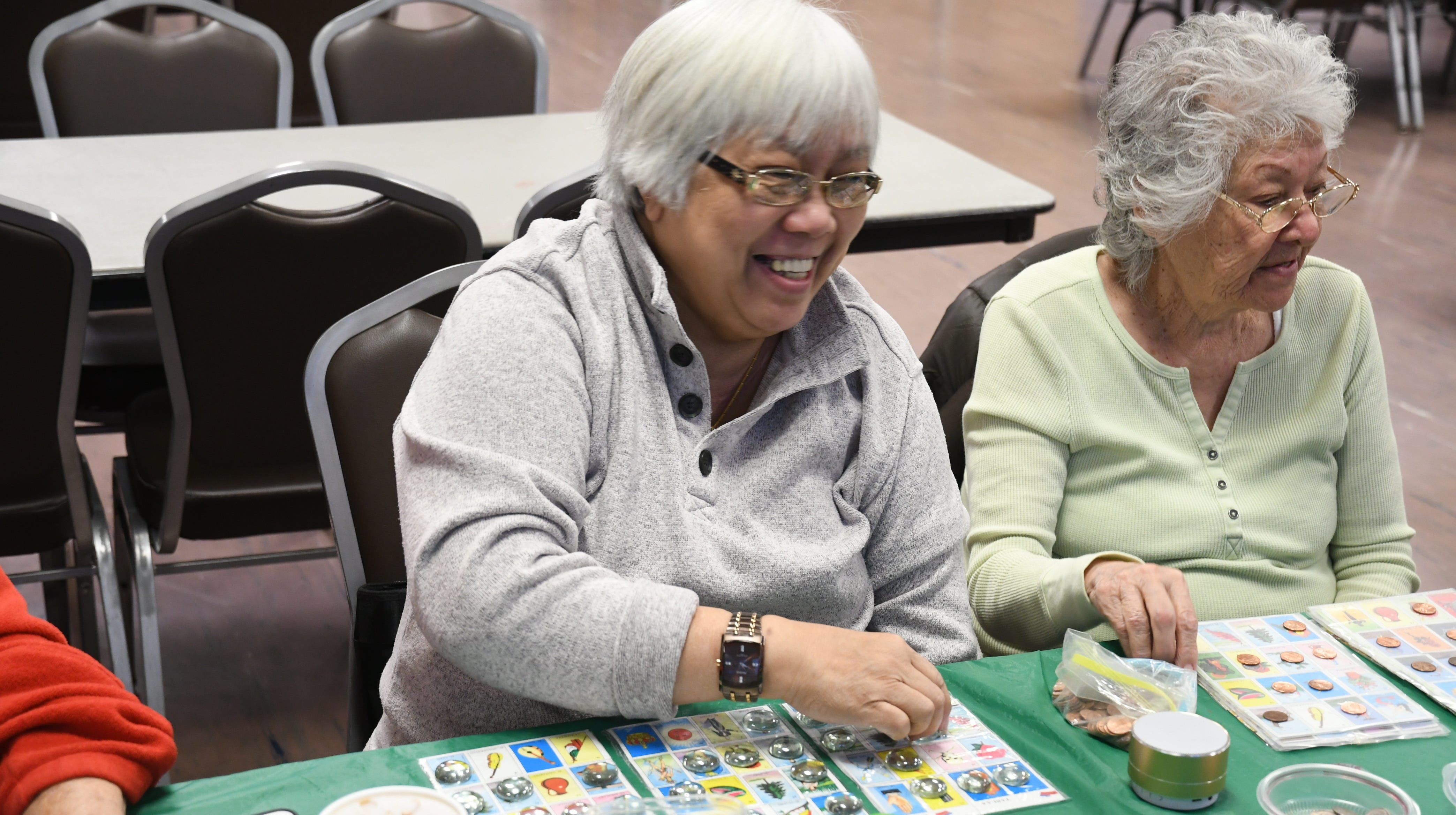 Tulare County seniors play loteria and bingo at the Visalia Senior Center. They only play for pennies, but even that is a struggle for many seniors who live on a fixed income.