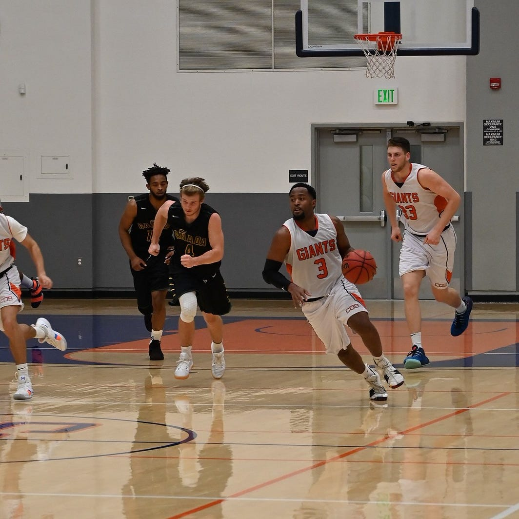 COS men's hoops win two